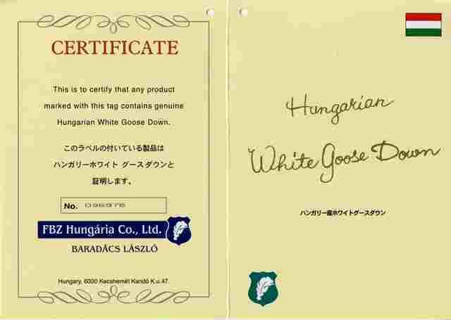 ハンガリーホワイトグースダウン