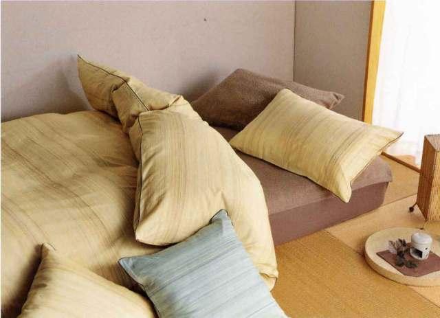 信頼の日本製・羽毛掛け布団+羊毛硬綿敷き布団+枕の実用セット